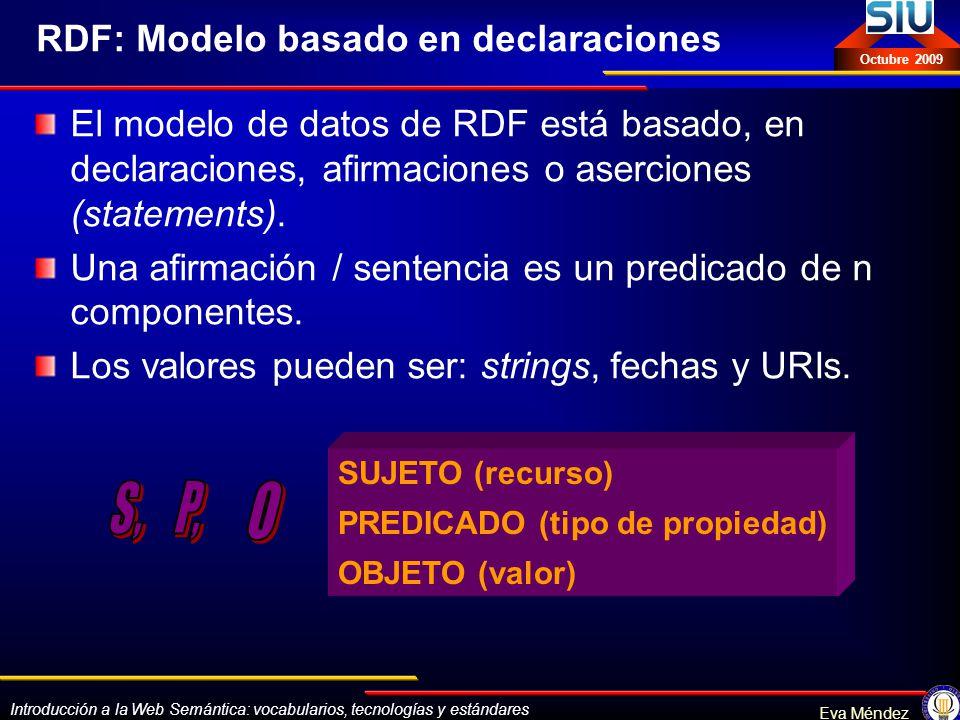 RDF: Modelo basado en declaraciones