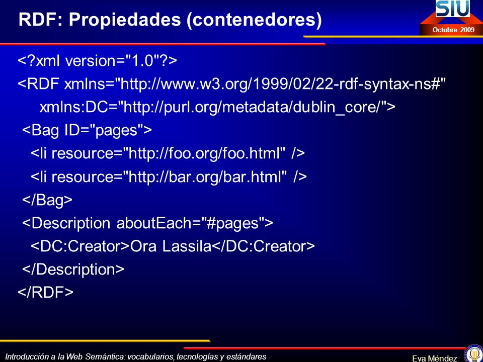 RDF: Propiedades (contenedores)