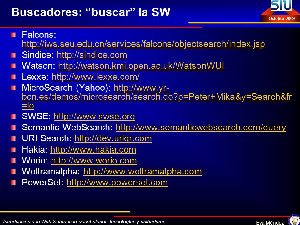 Buscadores: buscar la SW