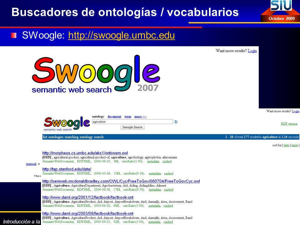 Buscadores de ontologías / vocabularios