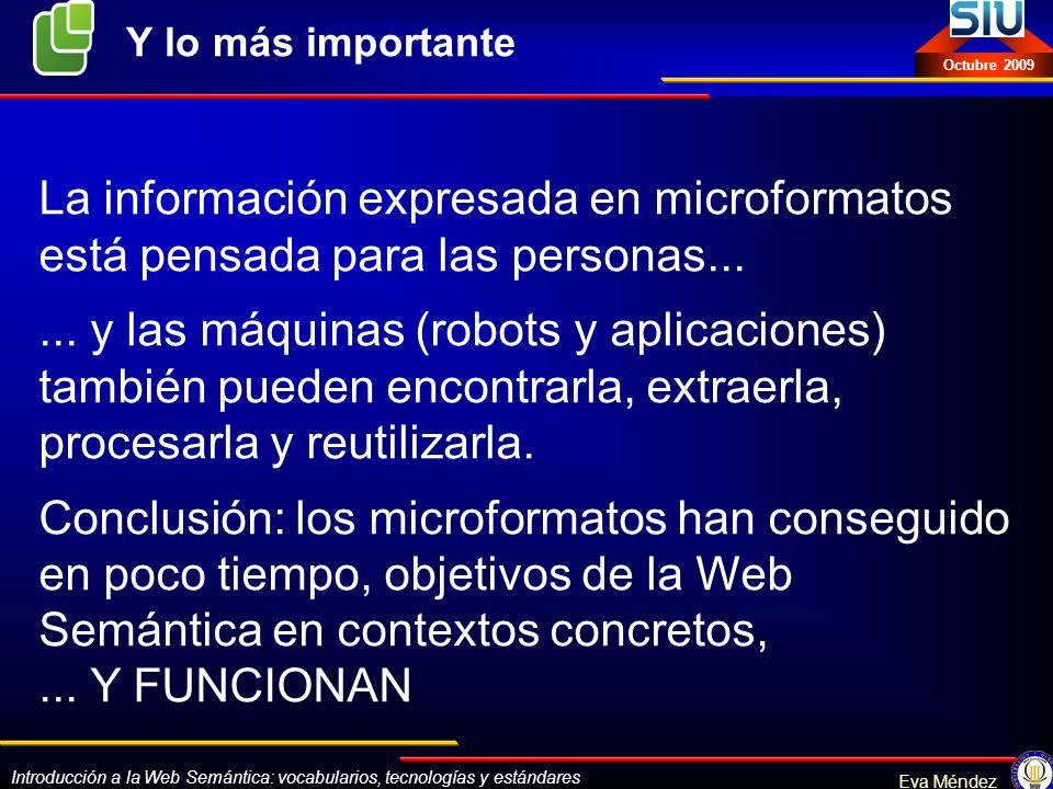 La información expresada en microformatos