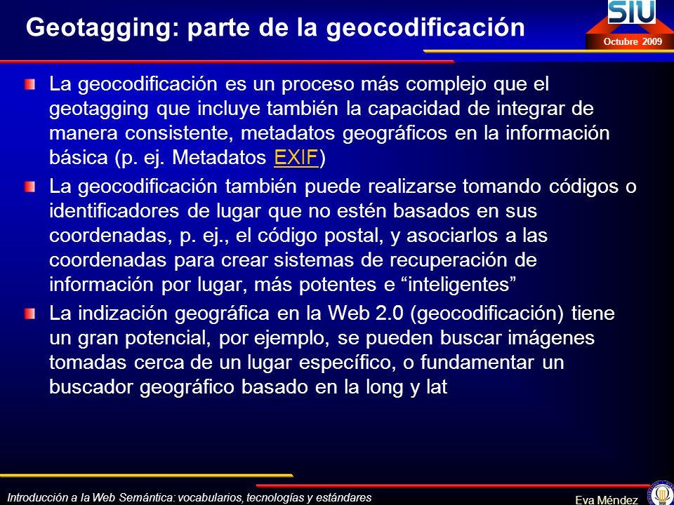 Geotagging: parte de la geocodificación