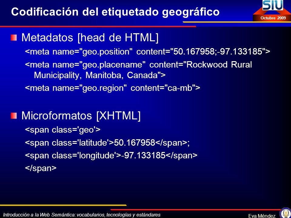 Codificación del etiquetado geográfico