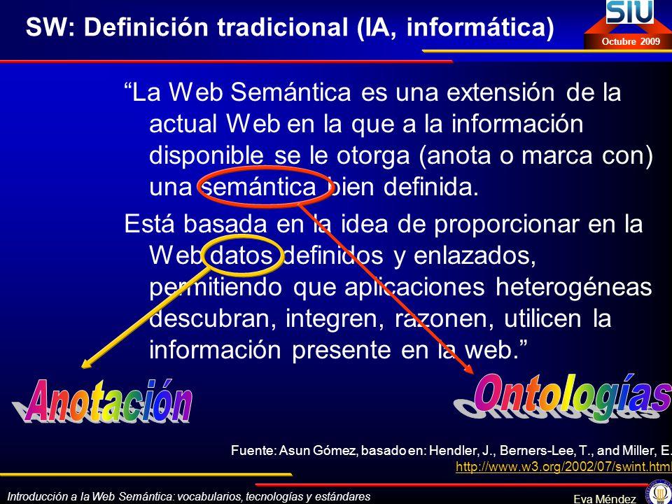 SW: Definición tradicional (IA, informática)
