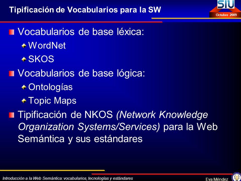 Tipificación de Vocabularios para la SW