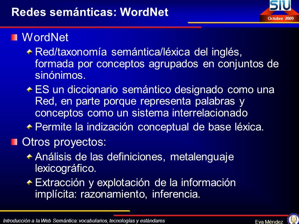 Redes semánticas: WordNet