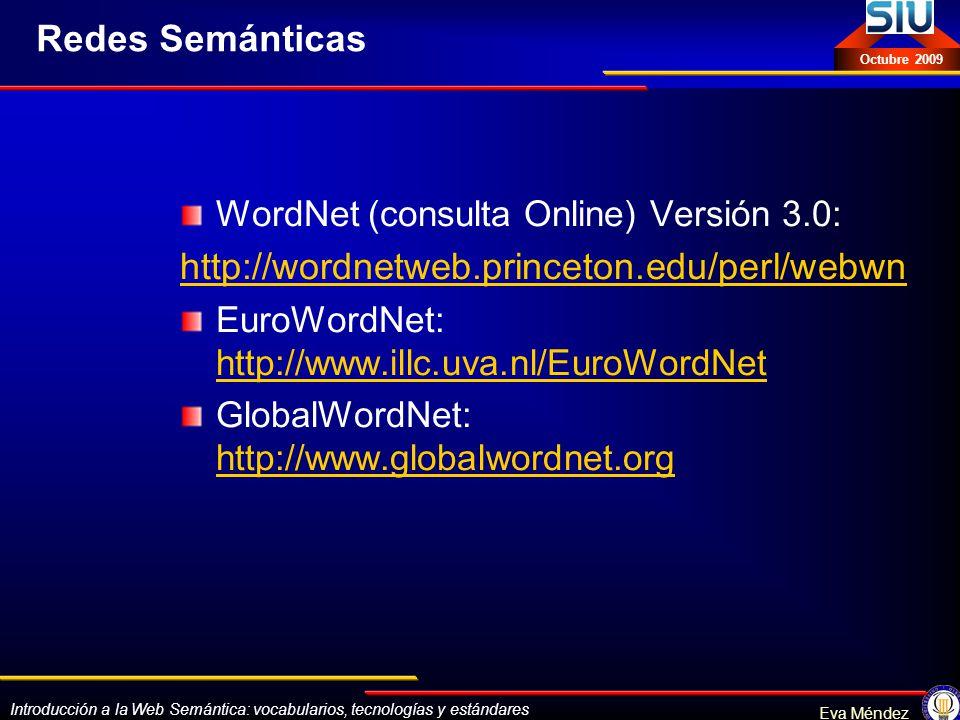 Redes Semánticas http://wordnetweb.princeton.edu/perl/webwn