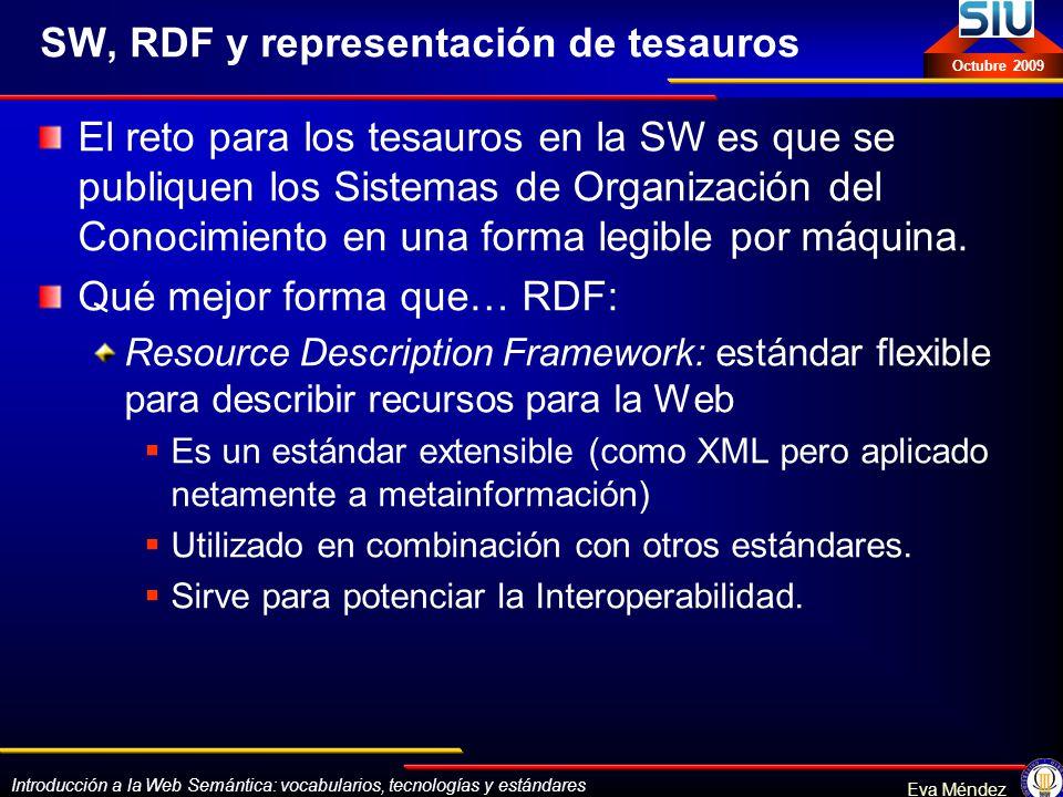 SW, RDF y representación de tesauros