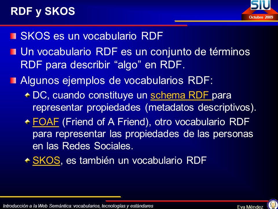 SKOS es un vocabulario RDF