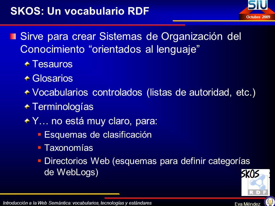 SKOS: Un vocabulario RDF