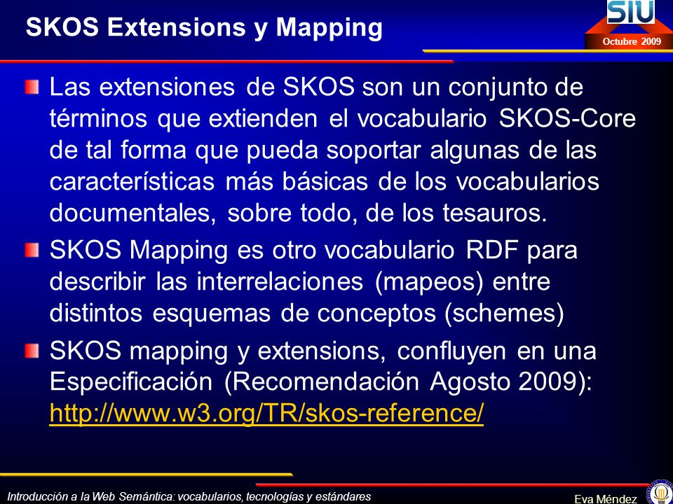 SKOS Extensions y Mapping