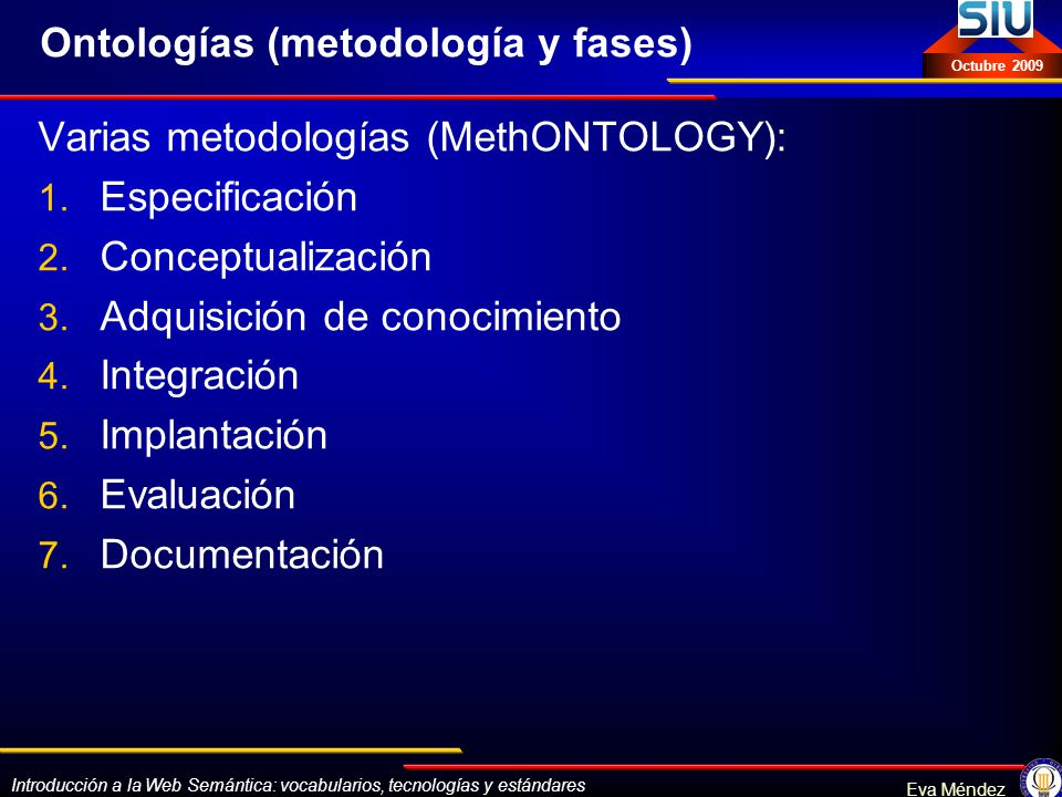Ontologías (metodología y fases)