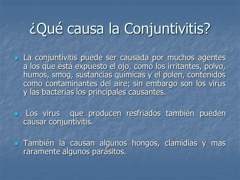 ¿Qué causa la Conjuntivitis