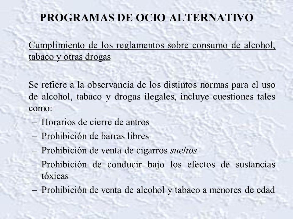 PROGRAMAS DE OCIO ALTERNATIVO