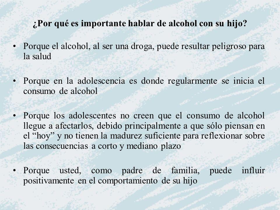 ¿Por qué es importante hablar de alcohol con su hijo
