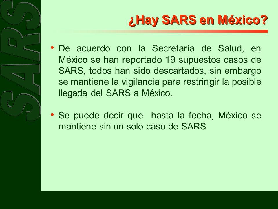 ¿Hay SARS en México