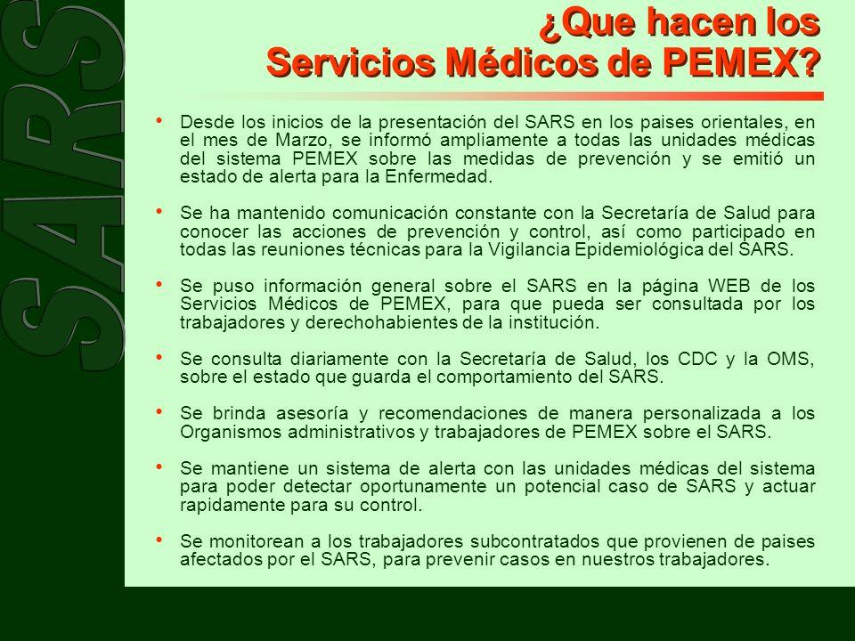 ¿Que hacen los Servicios Médicos de PEMEX