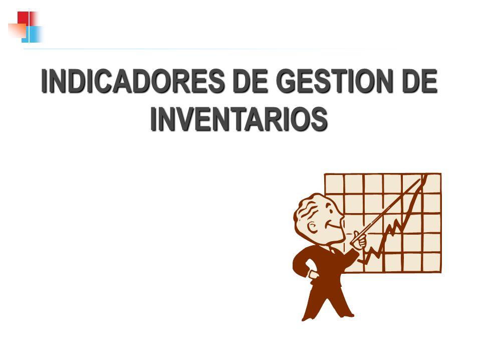 INDICADORES DE GESTION DE INVENTARIOS