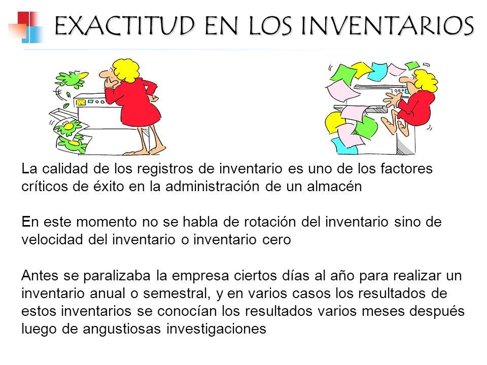 EXACTITUD EN LOS INVENTARIOS