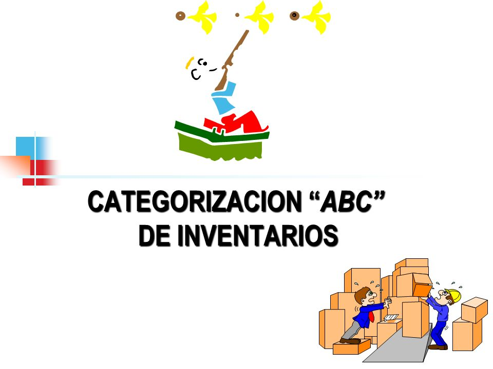 CATEGORIZACION ABC DE INVENTARIOS