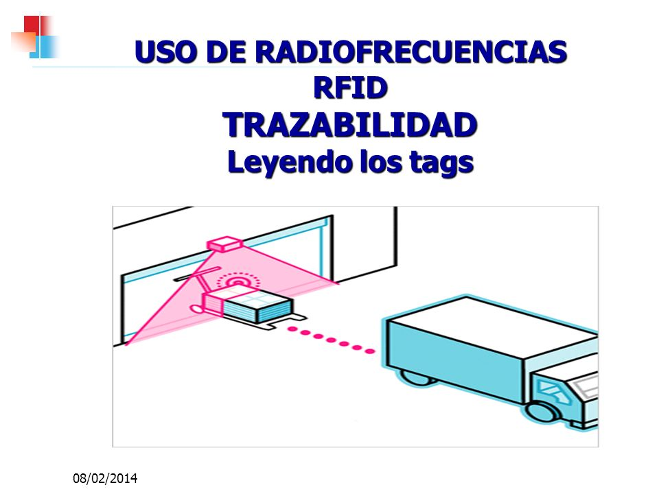 USO DE RADIOFRECUENCIAS RFID TRAZABILIDAD Leyendo los tags