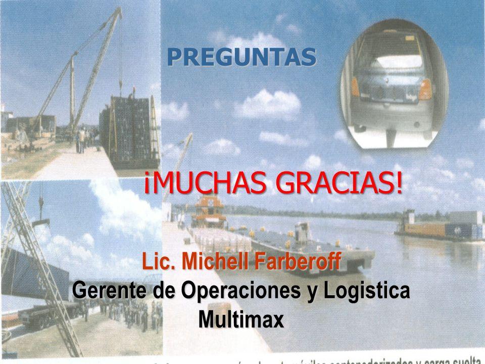 Lic. Michell Farberoff Gerente de Operaciones y Logistica Multimax