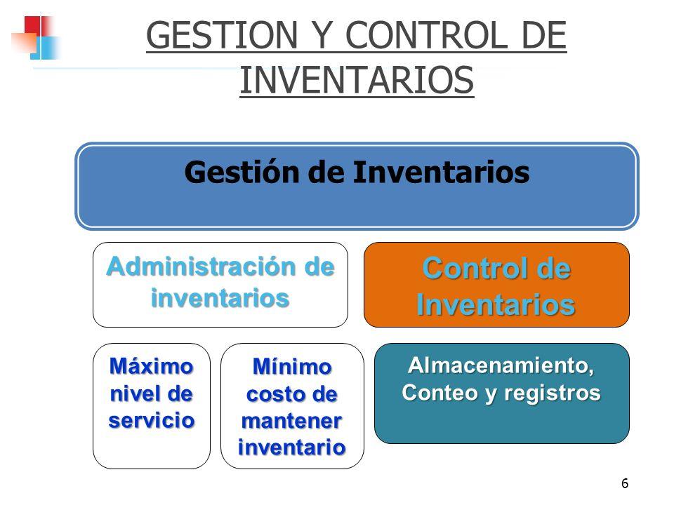 GESTION Y CONTROL DE INVENTARIOS