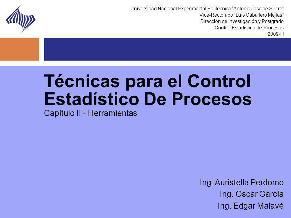 Técnicas para el Control Estadístico De Procesos