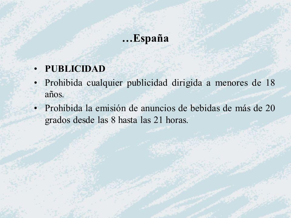 …España PUBLICIDAD. Prohibida cualquier publicidad dirigida a menores de 18 años.
