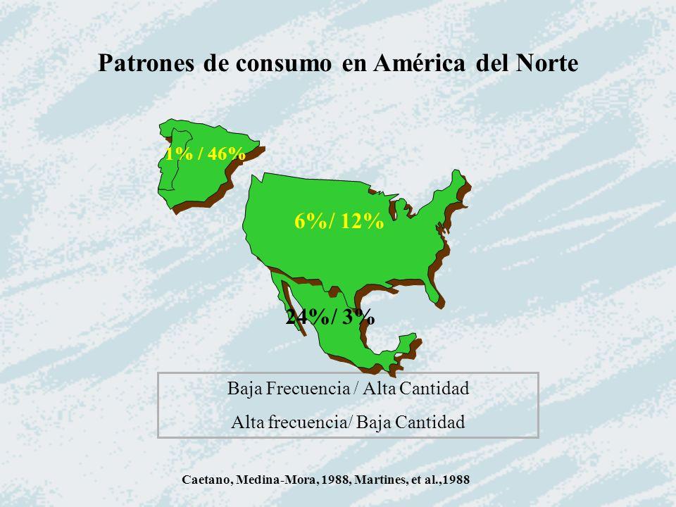 Patrones de consumo en América del Norte