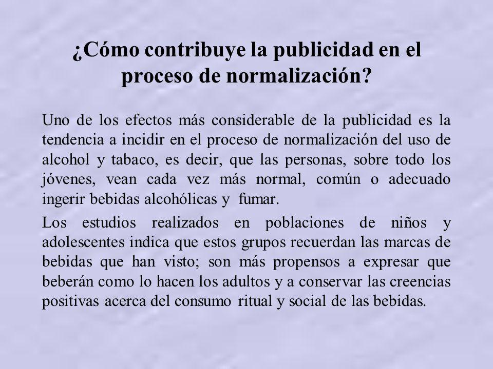 ¿Cómo contribuye la publicidad en el proceso de normalización