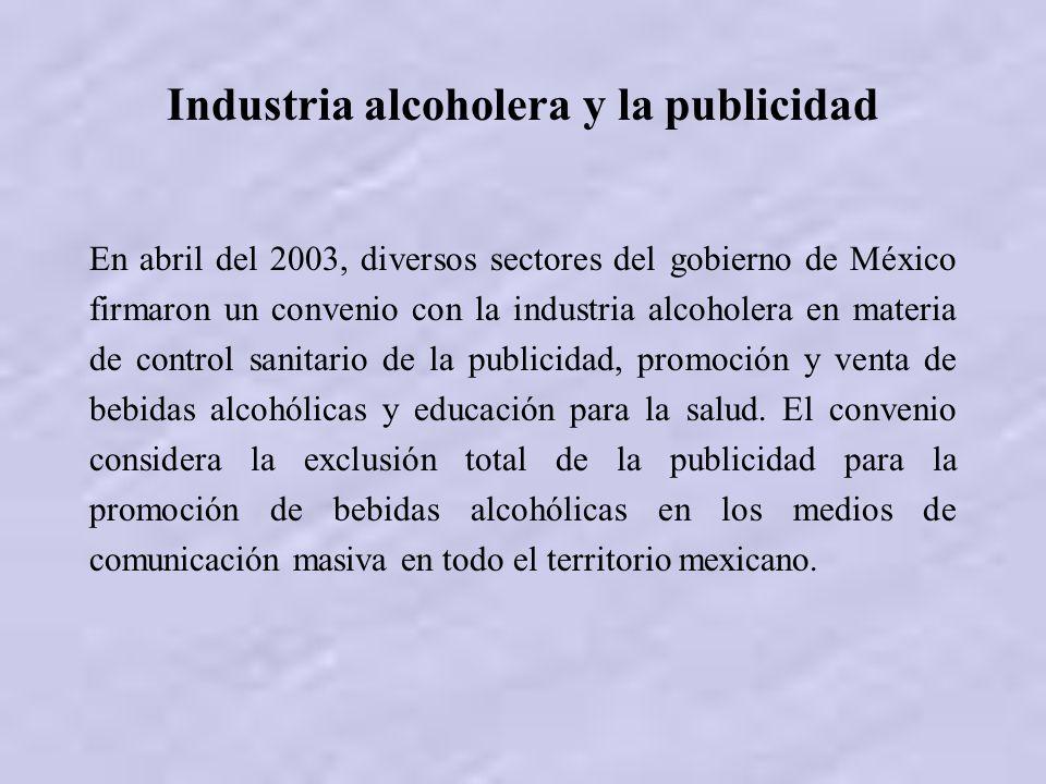 Industria alcoholera y la publicidad