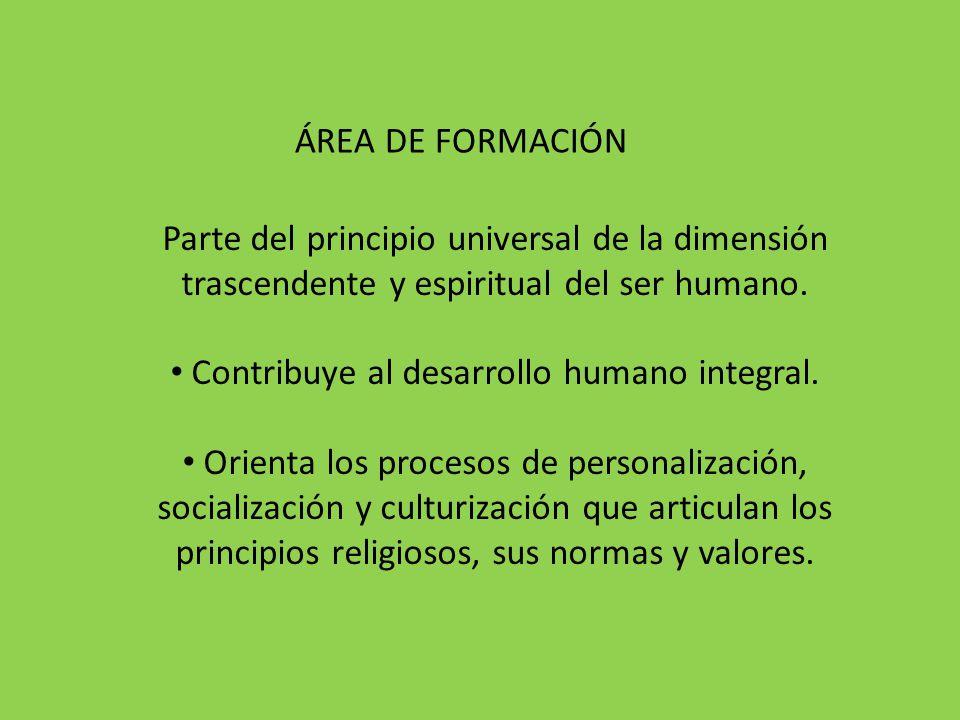 Contribuye al desarrollo humano integral.