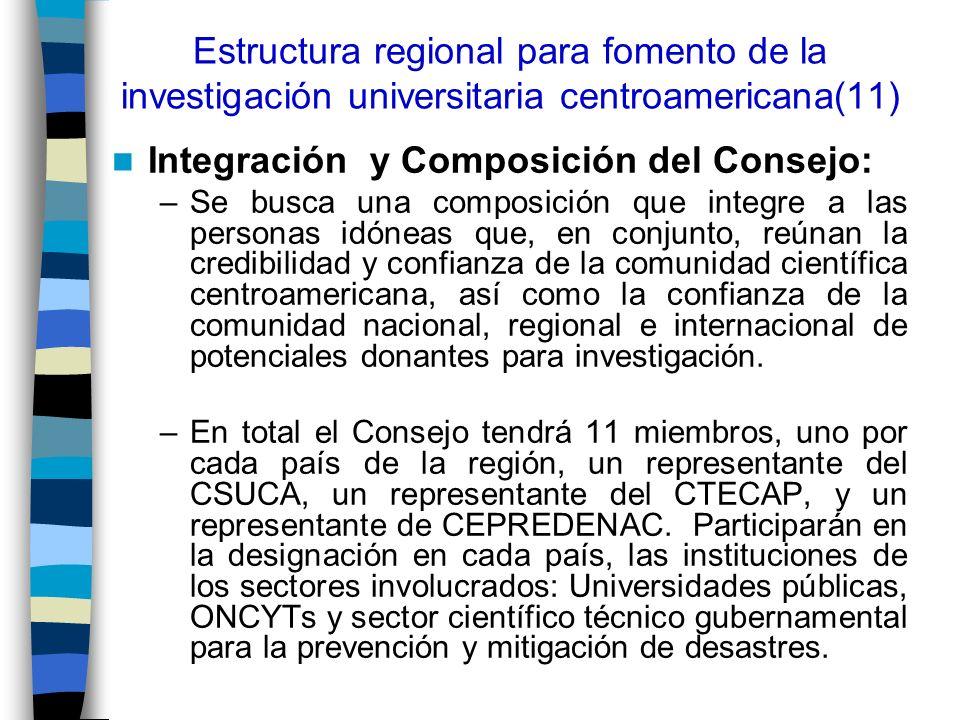 Integración y Composición del Consejo: