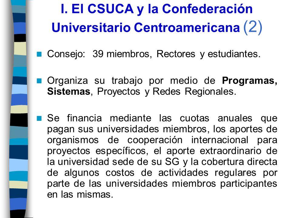 I. El CSUCA y la Confederación Universitario Centroamericana (2)