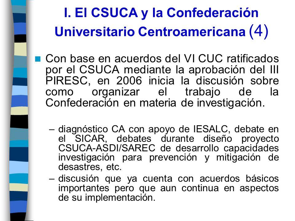 I. El CSUCA y la Confederación Universitario Centroamericana (4)