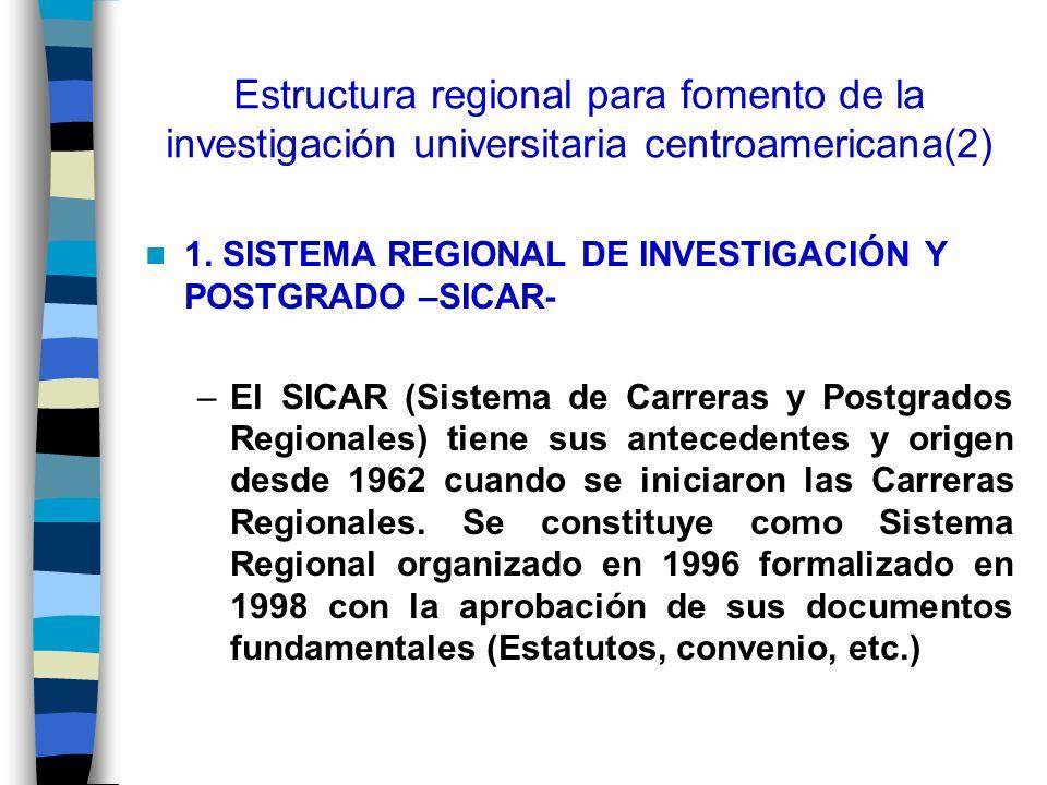 Estructura regional para fomento de la investigación universitaria centroamericana(2)