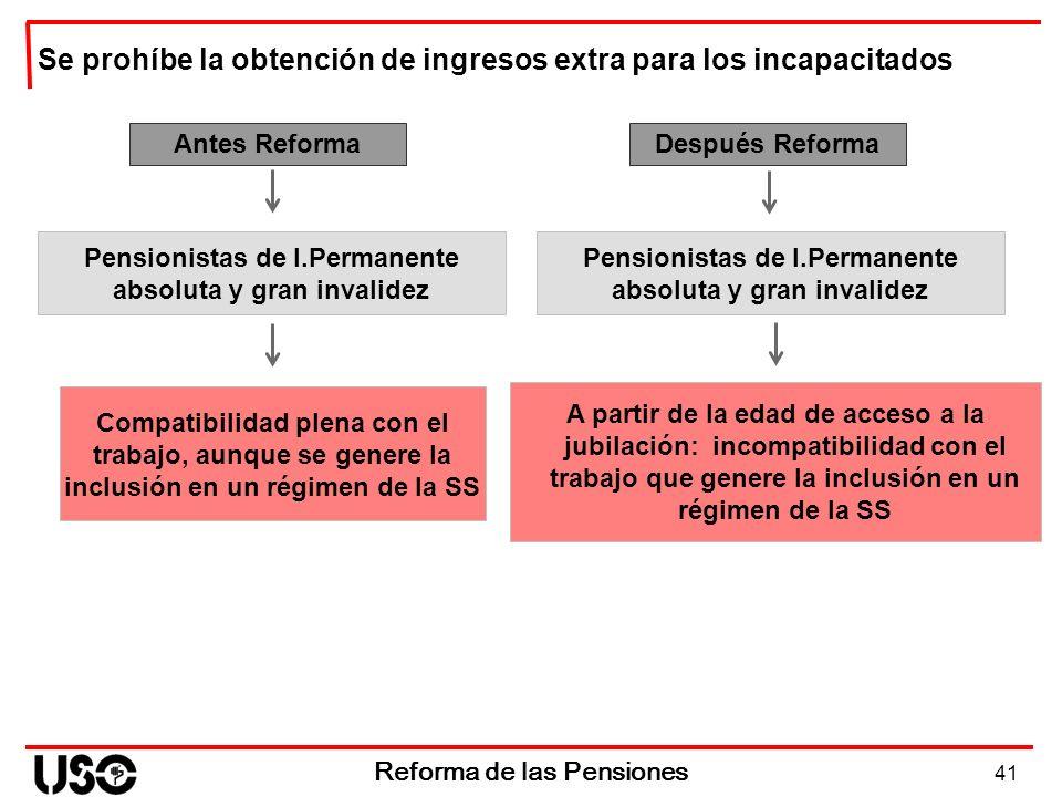 Se prohíbe la obtención de ingresos extra para los incapacitados