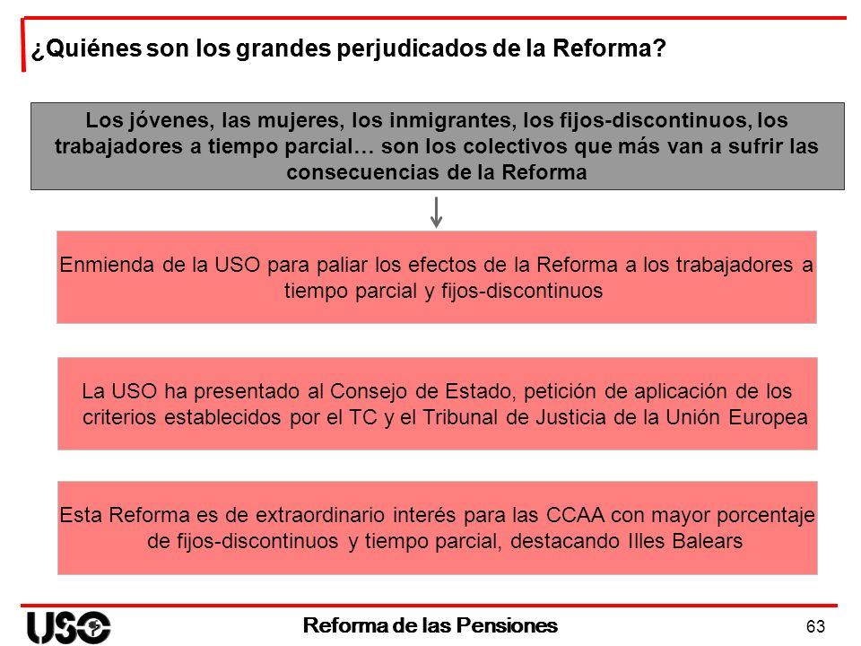 Reforma de las Pensiones Reforma de las Pensiones