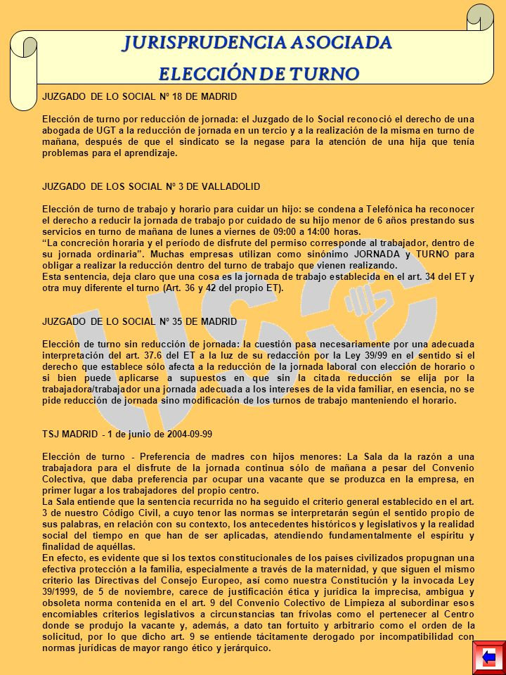 JURISPRUDENCIA ASOCIADA