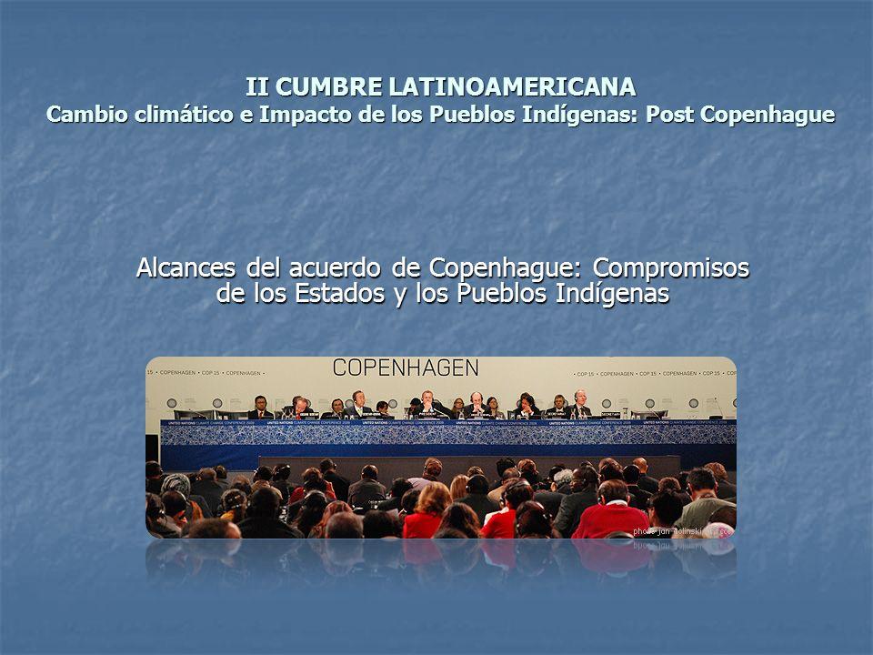 II CUMBRE LATINOAMERICANA Cambio climático e Impacto de los Pueblos Indígenas: Post Copenhague