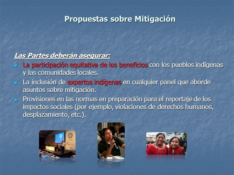 Propuestas sobre Mitigación