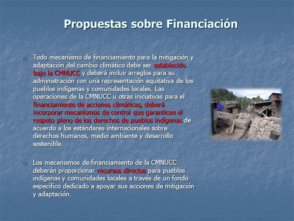 Propuestas sobre Financiación