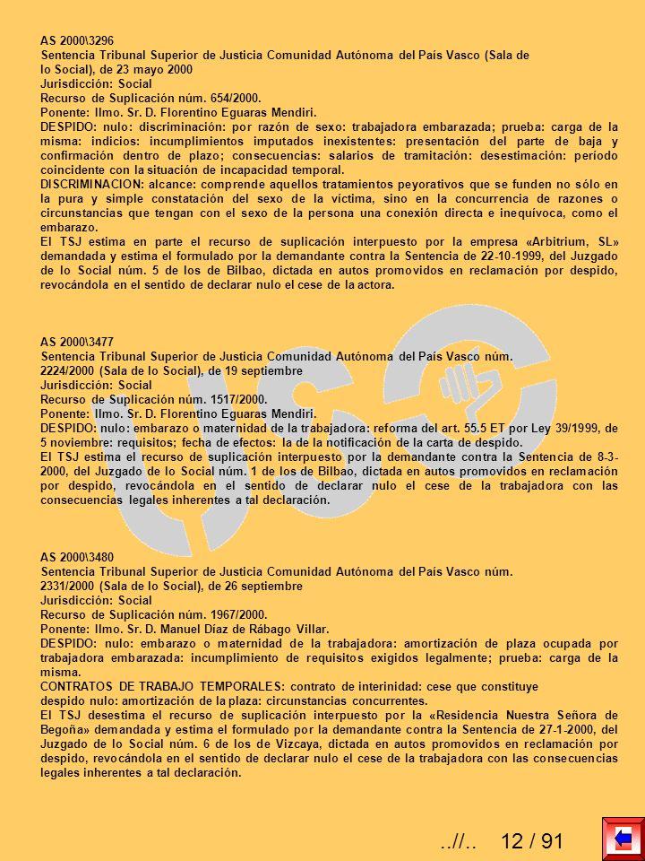 AS 2000\3296Sentencia Tribunal Superior de Justicia Comunidad Autónoma del País Vasco (Sala de. lo Social), de 23 mayo 2000.