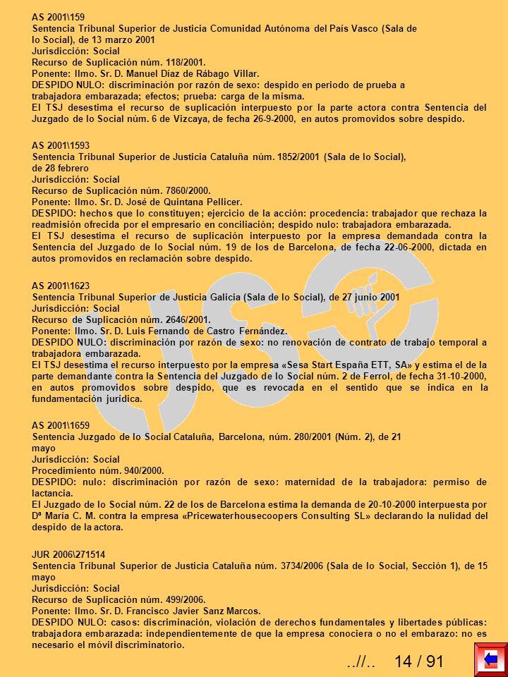 AS 2001\159Sentencia Tribunal Superior de Justicia Comunidad Autónoma del País Vasco (Sala de. lo Social), de 13 marzo 2001.