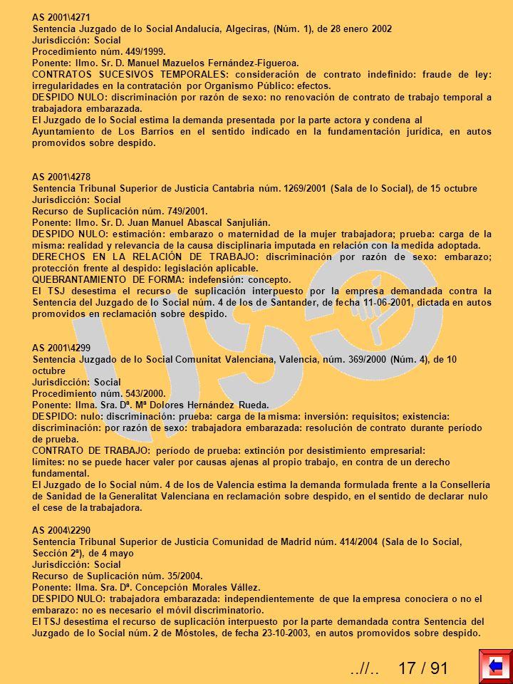AS 2001\4271Sentencia Juzgado de lo Social Andalucía, Algeciras, (Núm. 1), de 28 enero 2002. Jurisdicción: Social.