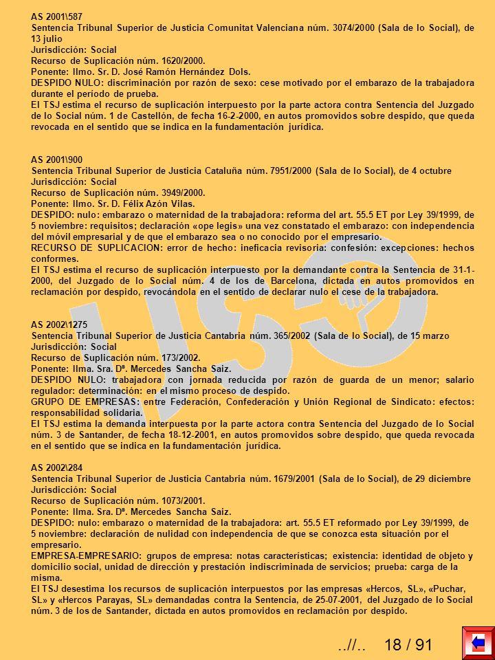 AS 2001\587 Sentencia Tribunal Superior de Justicia Comunitat Valenciana núm. 3074/2000 (Sala de lo Social), de 13 julio.