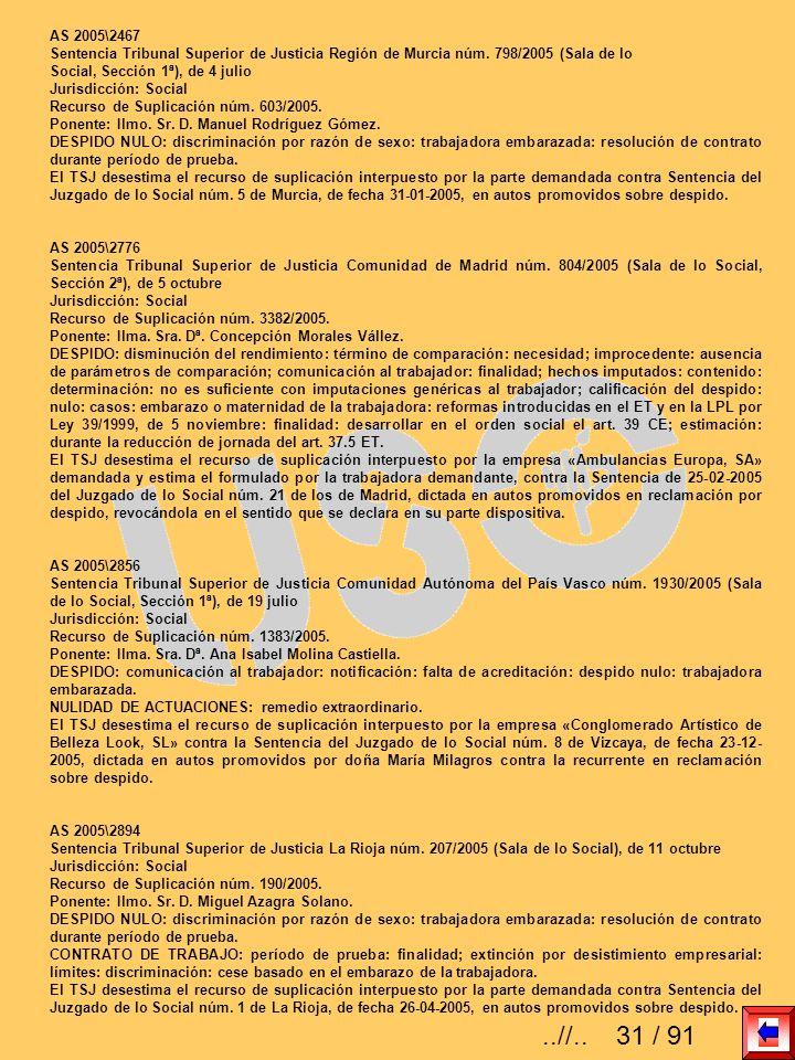 AS 2005\2467Sentencia Tribunal Superior de Justicia Región de Murcia núm. 798/2005 (Sala de lo. Social, Sección 1ª), de 4 julio.