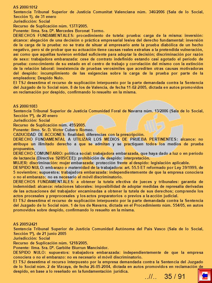 AS 2006\1012 Sentencia Tribunal Superior de Justicia Comunitat Valenciana núm. 346/2006 (Sala de lo Social, Sección 1), de 31 enero.