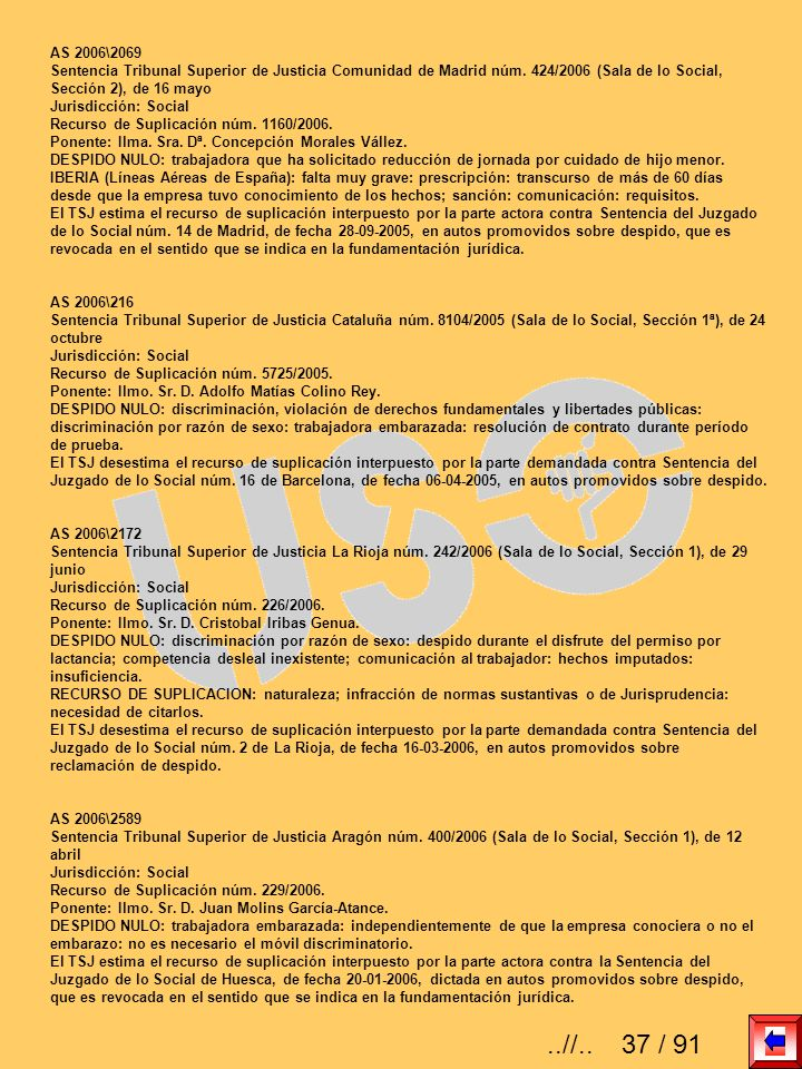 AS 2006\2069 Sentencia Tribunal Superior de Justicia Comunidad de Madrid núm. 424/2006 (Sala de lo Social, Sección 2), de 16 mayo.